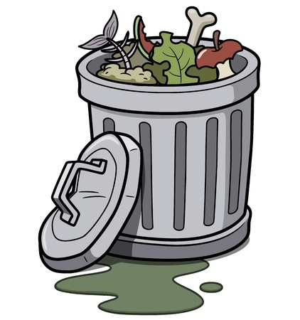 public waste: illustration of Trash can