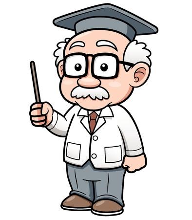 college professor: illustration of Cartoon Professor