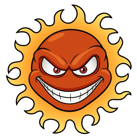 Vector illustration of Sun Cartoon Vector
