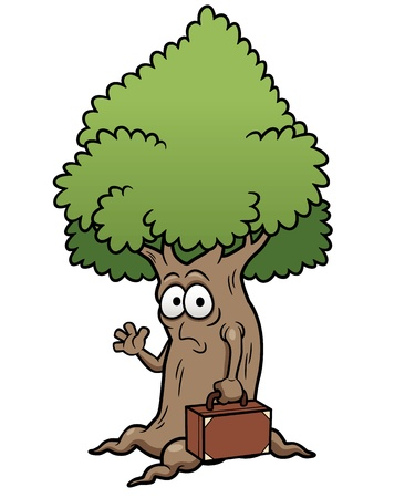 clip arts: Vector illustration of cartoon tree