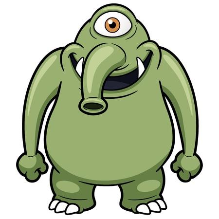 alien clipart: Vector illustration of cartoon monster