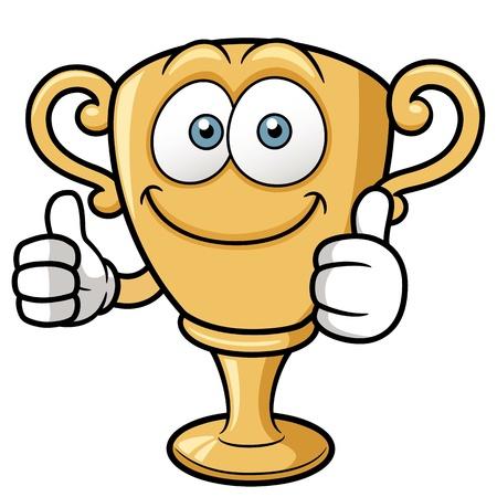 illustrazione del cartone animato Trophy Vettoriali