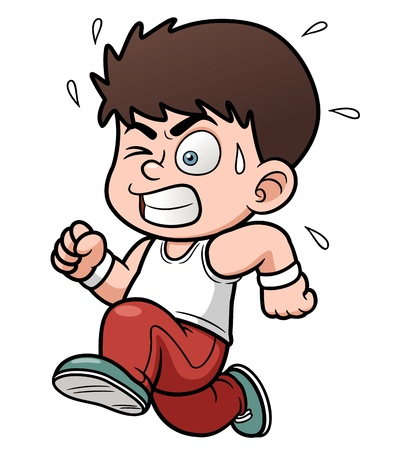 Vector illustration of a boy running Illustration