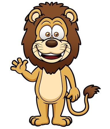 panthera: illustrazione del fumetto di leone Vettoriali