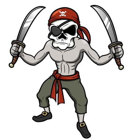 eyepatch: illustration of cartoon Pirate skull