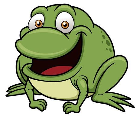 amphibian: Vector illustration of frog cartoon