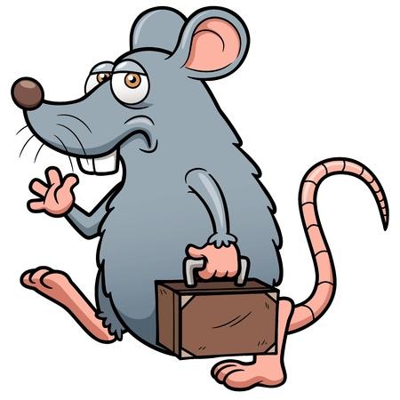 maus cartoon: Illustration von Cartoon Ratte raus