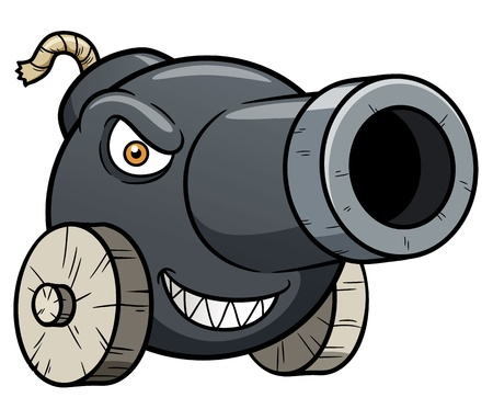 illustratie van kanon cartoon Vector Illustratie