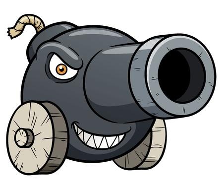 ilustración de dibujos animados de cañón Ilustración de vector