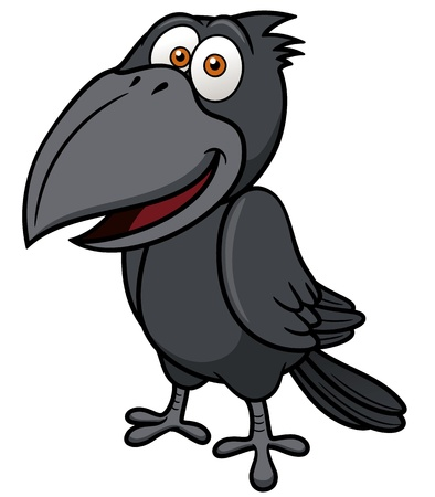 illustration of Cartoon crow Vector