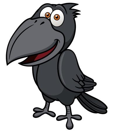 cuervo: ilustración de dibujos animados cuervo