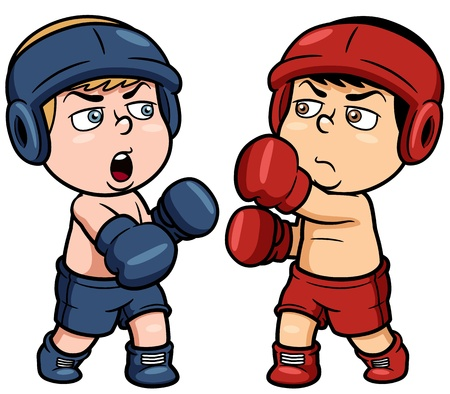 male boxer: illustration of boxing