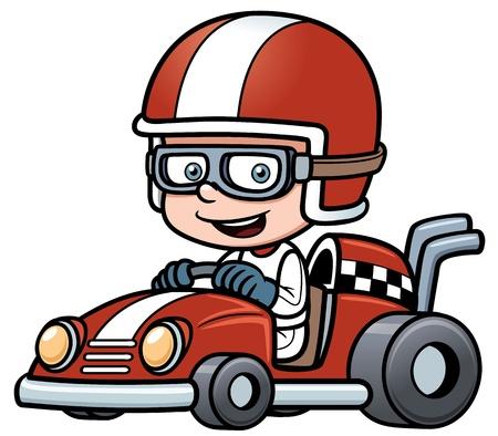 game drive: illustration of Boy Racing Illustration