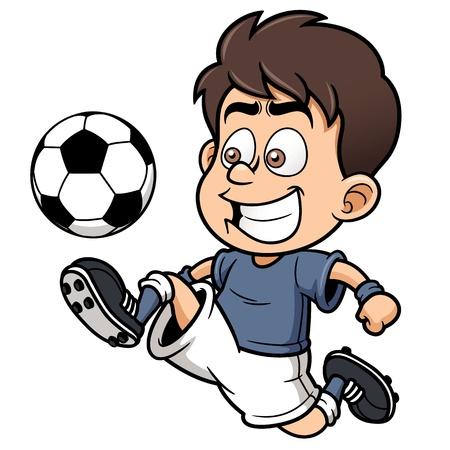 jugador de futbol soccer: Ilustraci�n del jugador del F�tbol Vectores