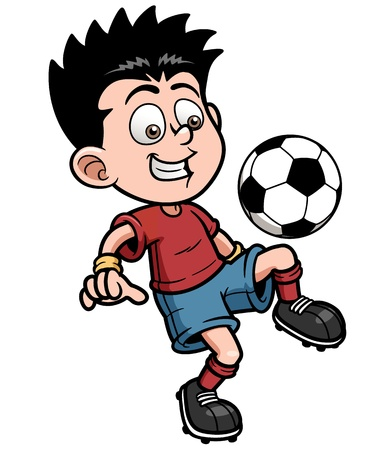 cute cartoon boy: illustration Soccer player Illustration