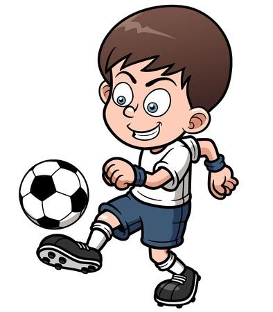 futbol soccer dibujos: Ilustración del jugador del Fútbol Vectores