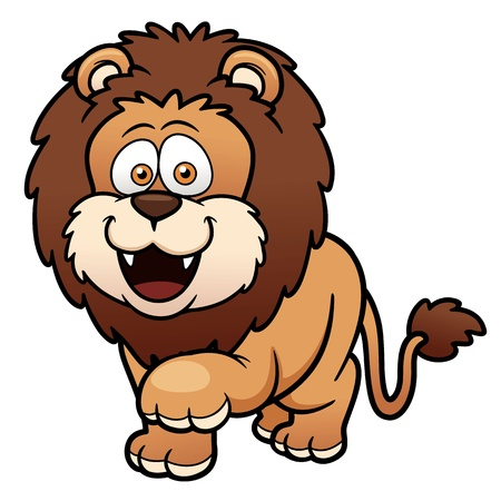 Vector illustration of Cartoon lion Vector