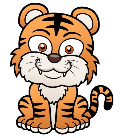 Vector illustration of Tiger cartoon Vector