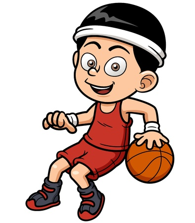 actions: Vector illustration of cartoon basketball player Illustration
