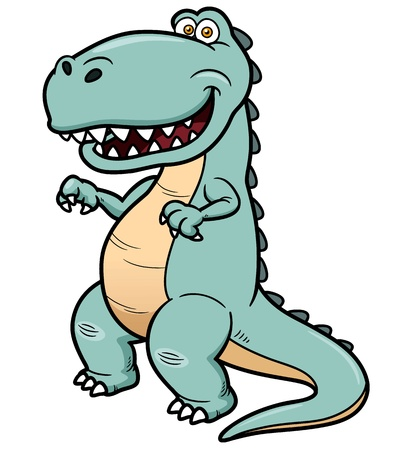 Vector illustration of cartoon dinosaur Stock Vector - 19373630