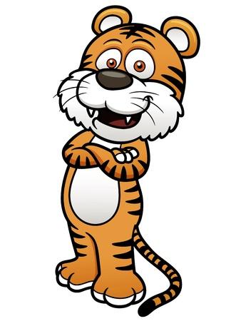 sumatran: illustration of Tiger cartoon