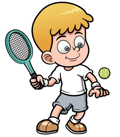 illustration of Tennis Player Vector
