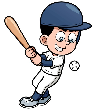 illustration of Cartoon Baseball Player Vector