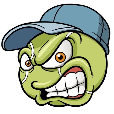 illustration of Cartoon Tennis ball Vector