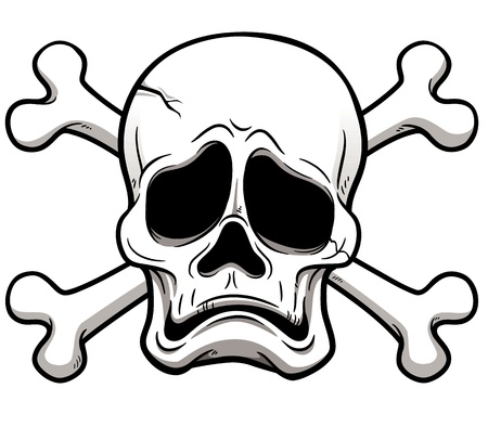 illustration of Skull and Crossbones Vector