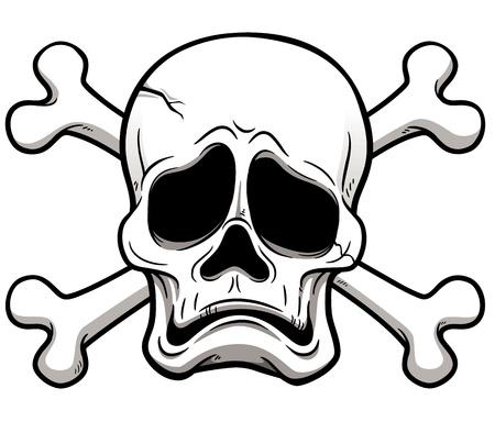 deaths head: illustration of Skull and Crossbones