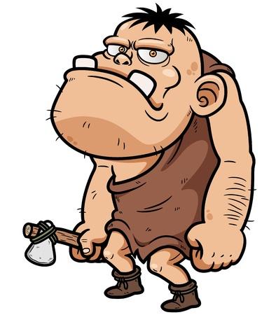 illustration of Cartoon caveman Vector