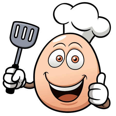 chef clipart: illustration of Chef egg cartoon