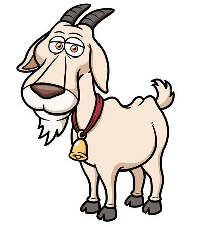 geit: Vector illustratie van de Geit Cartoon