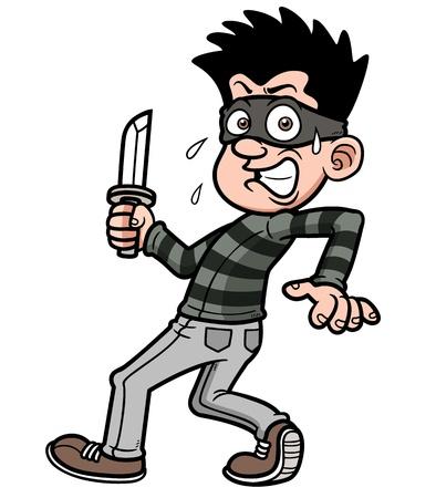 swindled: Vector illustration of cartoon thief