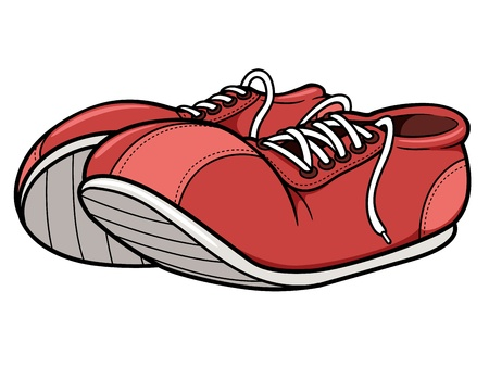 Vector illustration of sneakers Illustration