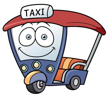 bangkok: Vector illustration Three-wheeler,Tuk Tuk taxi car Thailand