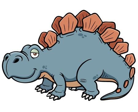 przerażający: Ilustracja Cartoon dinozaura