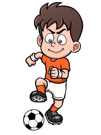 friendly: illustration Soccer player Illustration