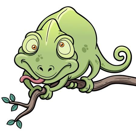 chamaeleo: illustration of Cartoon Chameleon