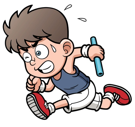 illustration of Runner boy Vector