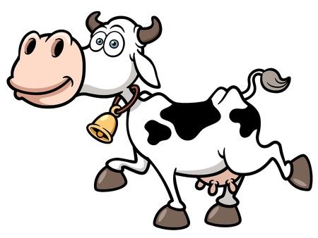 cow bells: Ilustraci�n vectorial de la vaca de la historieta