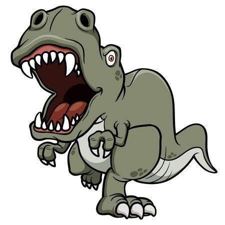 dientes caricatura: Ilustración del vector del dinosaurio de la historieta Vectores