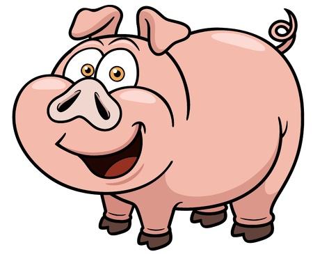 chancho caricatura: Ilustraci�n vectorial de dibujos animados de cerdo Vectores