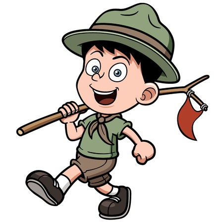 boy with glasses: Vector illustration of boy scout