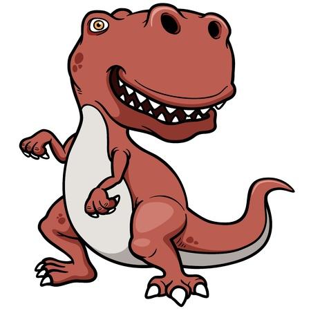 Illustrazione vettoriale di cartone animato di dinosauro Vettoriali