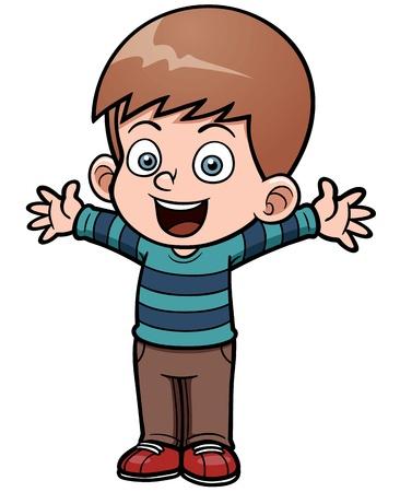 Vector illustratie van gelukkige jongen