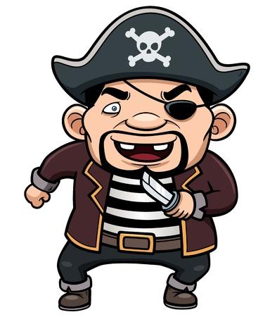 scowl: Vector illustration of Pirate Illustration