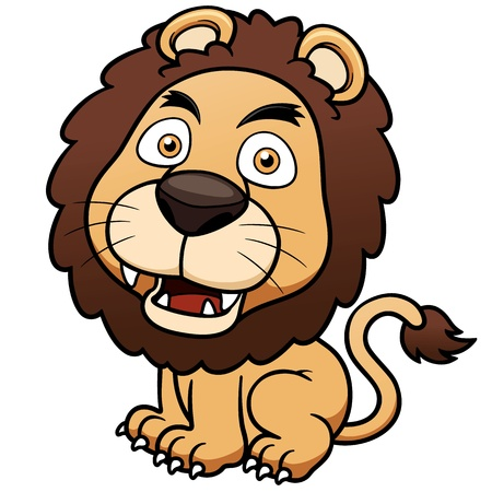 Vector illustration of Lion cartoon Vector
