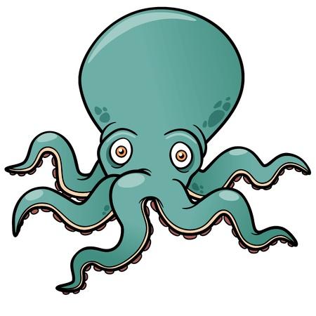 cartoon octopus: Vector illustration of Cartoon octopus Illustration