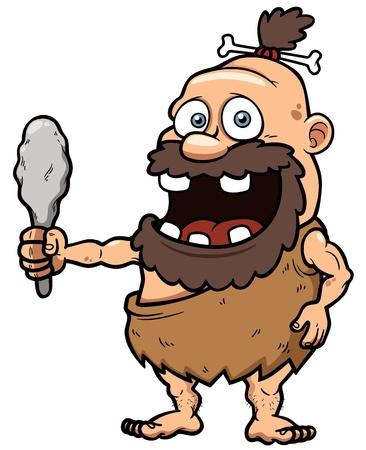 caveman: illustration of Cartoon caveman